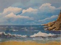 Strand, Himmel, Meer, Felsen