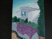 Ferienhaus, Urlaub, Reise, Malerei