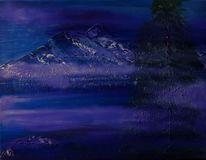 Berge, Wasser, Schnee, Landschaft