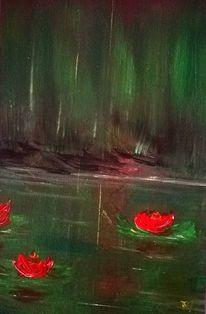 Biotop, Seelilien, Regenwald, Malerei