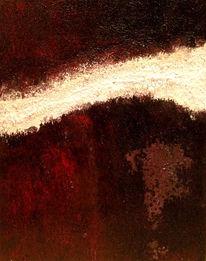 Riss, Rot schwarz, Spachteltechnik, Acrylmalerei