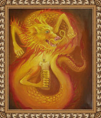 Feuer, Ying yang, Zustand, Fantasie
