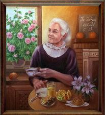 Frau, Mutter porträt, Liebe, Malerei
