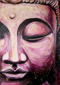 Pink, Gelassenheit, Buddha, Malerei
