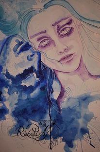 Edward und bella, Aquarell