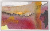 Abstrakt, Taschenkunst, Begegnung, Rot
