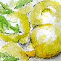 Zitrone, Obst, Aquarell, Tiere und natur