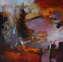 Rot, Abstrakt, Malerei, 2014