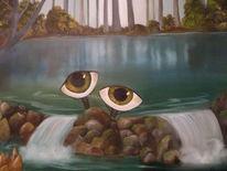 Ölmalerei, Augen, Landschaft, Malerei