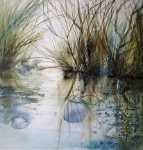 Fluss, Aquarell