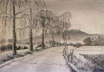 Birken, Landstraße, Hesselberg, Zeichnungen