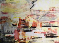 Verkollerung, Dreamscape, Acrylmalerei, Malerei
