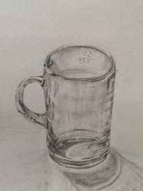 Glas, Bleistiftzeichnung, Zeichnungen, Krankenhaus