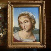 Frau, Ölmalerei, Portrait, Mädchen