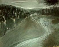 Grau schwarz weiß, Malerei