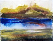 Landschaftsmalerei, Nordsee, Sommer, Langwarder