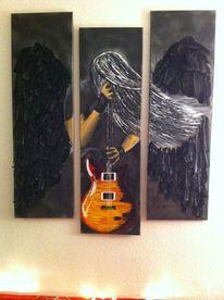 Engel, Elektrogitarre, Schwarz, Trio