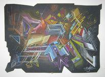 Modern, Design, Abstrakt, Zeichnung