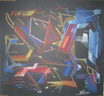 Pferde, Pegasus, Abstrac, Zeichnung