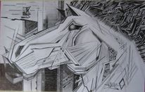 Zeichnung, Tiere, Modern, Expresionism