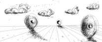Wetter, Wolken, Wüste, Zeichnungen