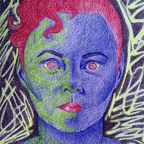 Destabilisierung, Missbrauch, Manipulation, Zeichnungen