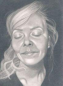 Portrait, Bleistiftzeichnung, Realismus, Zeichnungen