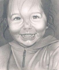 Kinderportrait, Realismus, Bleistiftzeichnung, Zeichnungen