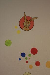 Wandmalerei, Kinder, Hase, Malerei