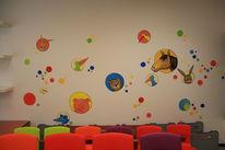 Kinder, Tiere, Wandmalerei, Malerei