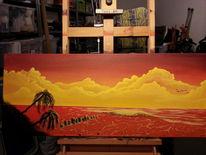 Palmen, Sonnenuntergang, Strand, Atmosphäre
