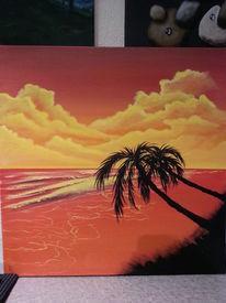 Strand, Wolken, Meer, Atmosphäre