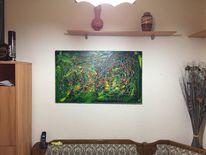 Ölmalerei, Leinen, Abstrakt, Malerei