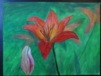 Malerei, Lilie, Arbeit
