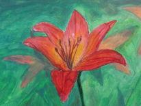 Malerei, Arbeit, Lilie