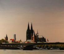 Realismus, Stadt, Lasurtechnik, Köln am rhein