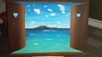 Acrylmalerei, Malerei, Willkommen, Meer