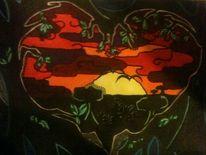 Zeichnung, 2012, Landschaft, Zeichnungen