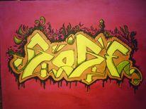 Schriftzug, Buchstaben, Graffiti, Malerei