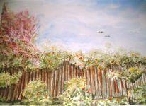 Zaun, Kindheitserinnerung, Sommer, Pflanzen