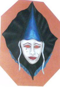 Maske, Pastellmalerei, Karneval, Malerei