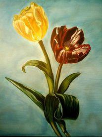 Stillleben, Malerei, Tulpen