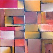 Malerei, Bunt, Abstrakt, Acrylmalerei