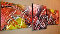 Acrylmalerei, Bunt, Malerei, Schwarz
