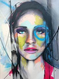 Fantasie, Portrait, Abstrakt, Malerei