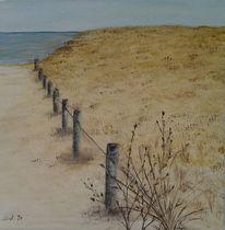 Landschaft, Meer, Acrylmalerei, Dünen