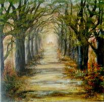 Erholung, Waldweg, Acrylmalerei, Malerei