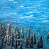 Malerei, Meer, Welle, Landschaft