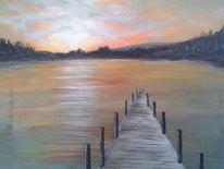 Wasser, Acrylmalerei, Malerei, Landschaft