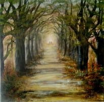 Wald, Gefühl, Waldweg, Strukturpaste